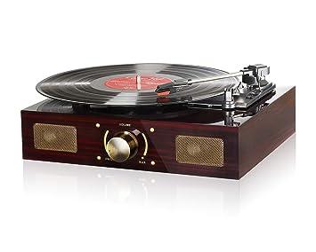 Tocadiscos, reproductor de discos de vinilo Lugulake de 3 ...
