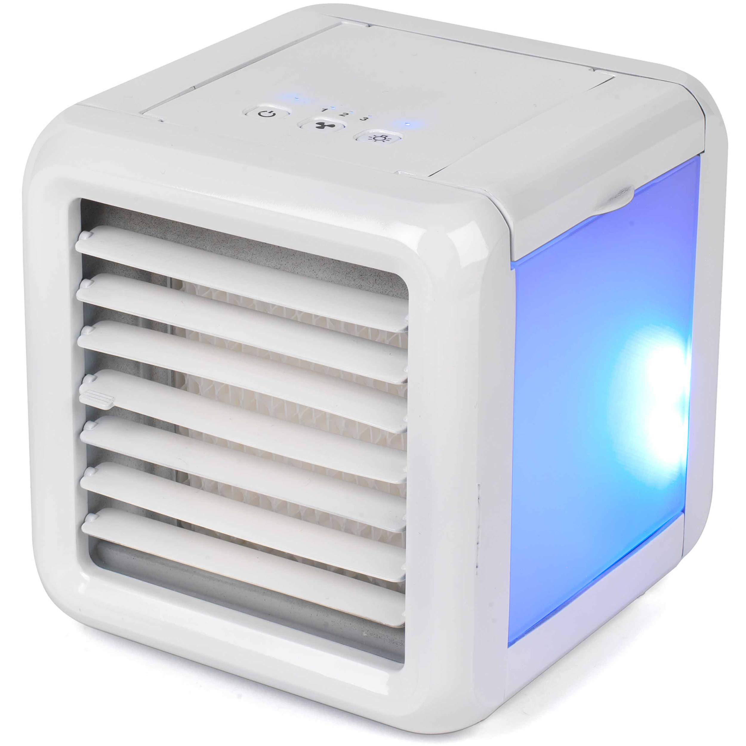 Humidifier 3 in 1 USB Portable Mini Air Conditioner Lmani Arctic Air Space Cooler The Quick /& Easy Way to Cool Any Space White Purifier with 7 colors LED Night