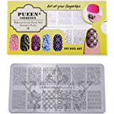 PUEEN Nail Art Stamping Plate - Fairytale Lover 01 - 125x65mm Unique Nailart Polish Stamping Manicure Image Plates Accessories Kit-BH000557