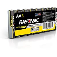 Rayovac AA Batteries, Ultra Pro Alkaline AA Cell Batteries (8 Battery Count)
