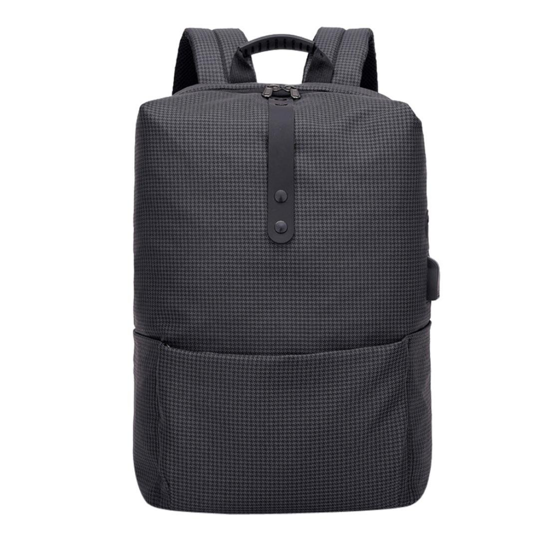 Zaino Casual Moda da Donna,Sonnena Zaino Schoolbag di Ricarica USB ad Alta Capacità Multifunzionale di Moda Zaino Anti-furto di Moda Borsa per Laptop ad Alta CapacitàNero A