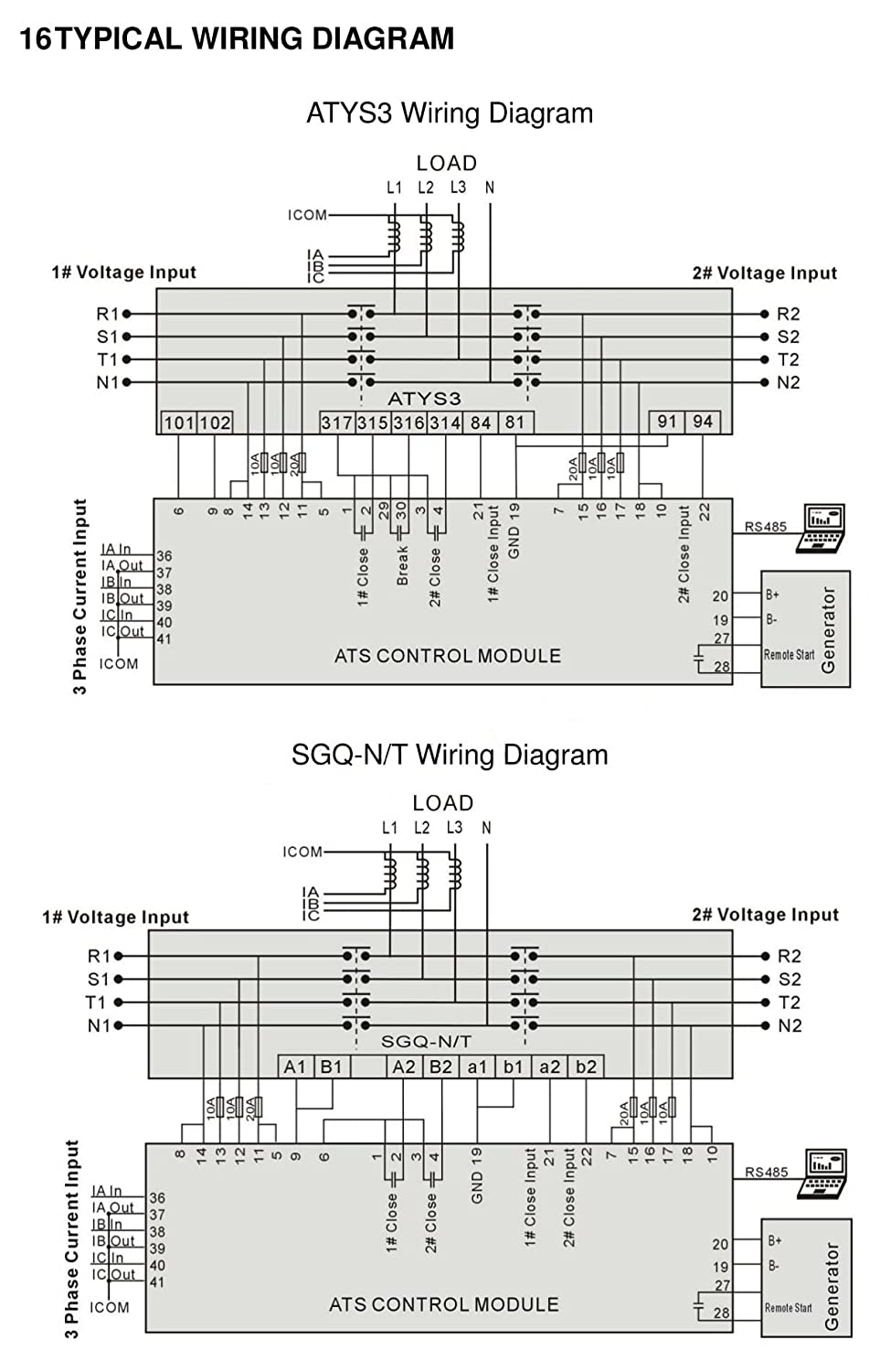 Smartgen Hat600 Automatic Transfer Switch Controller Ats Amazon Wiring Panel Amf Industrial Scientific