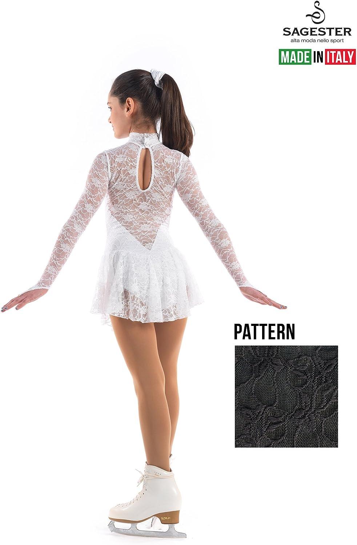 Italy Hand-Made//Figure Ice Skating Dress Roller Skating Sagester # 132