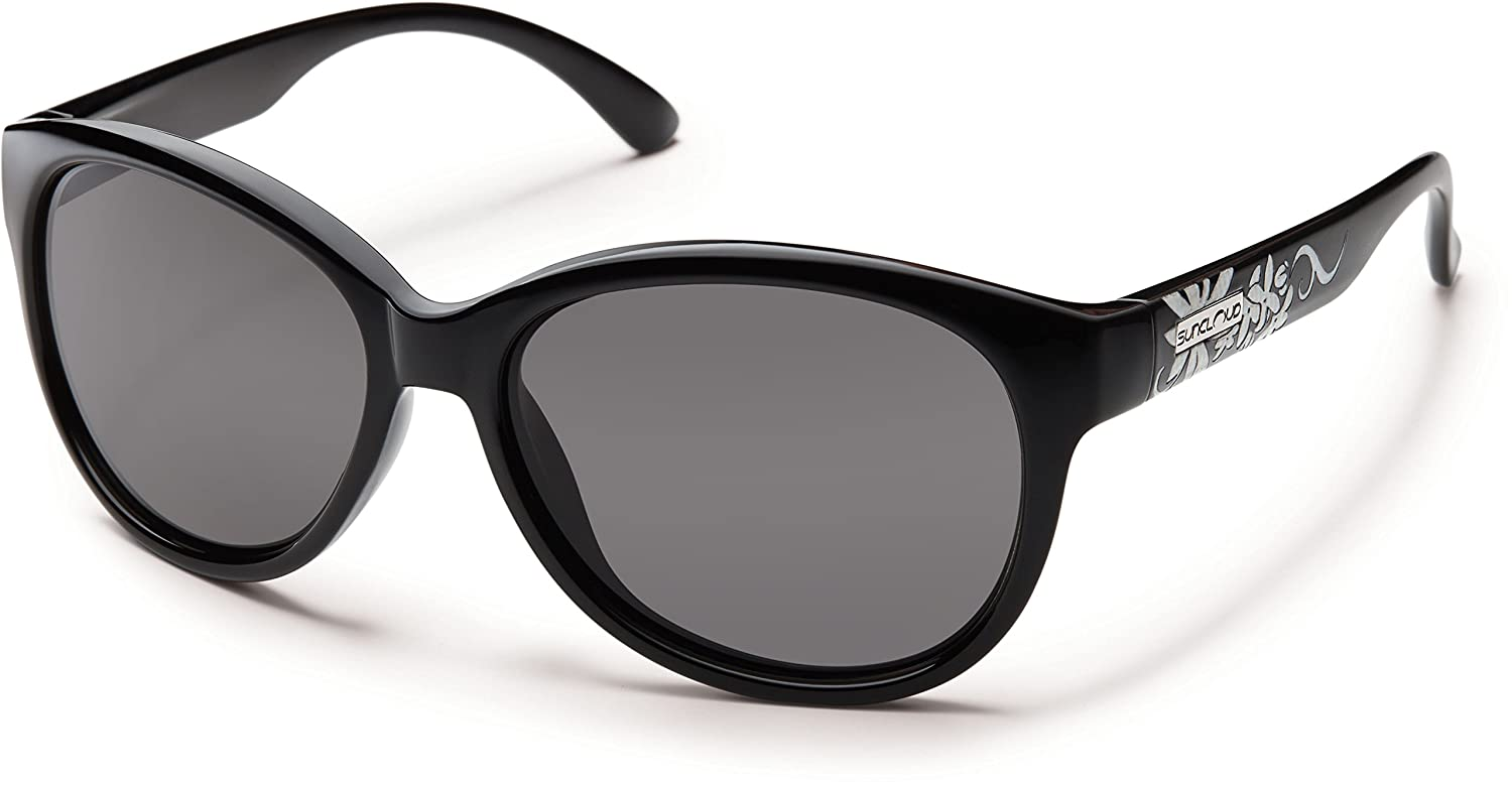 ed80b41ce9d Amazon.com  Suncloud Catnip Polarized Sunglasses Small Kids Size in Black    Grey  Clothing