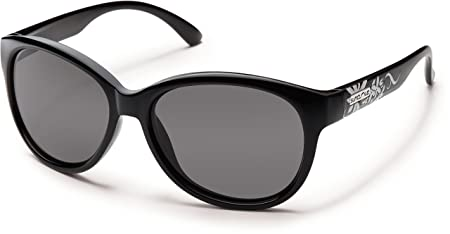 1ed384dfcf Amazon.com  Suncloud Catnip Polarized Sunglasses Small Kids Size in Black    Grey  Clothing