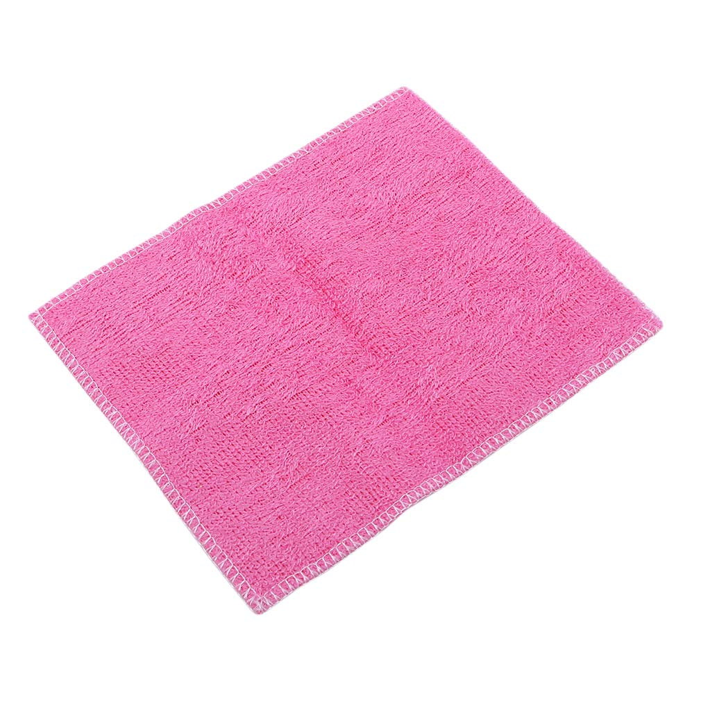 GloryMM Absorbent Microfiber Dishcloths Multi-Function Odorless Dish Cloth Towels Home Kitchen Tool,Pink