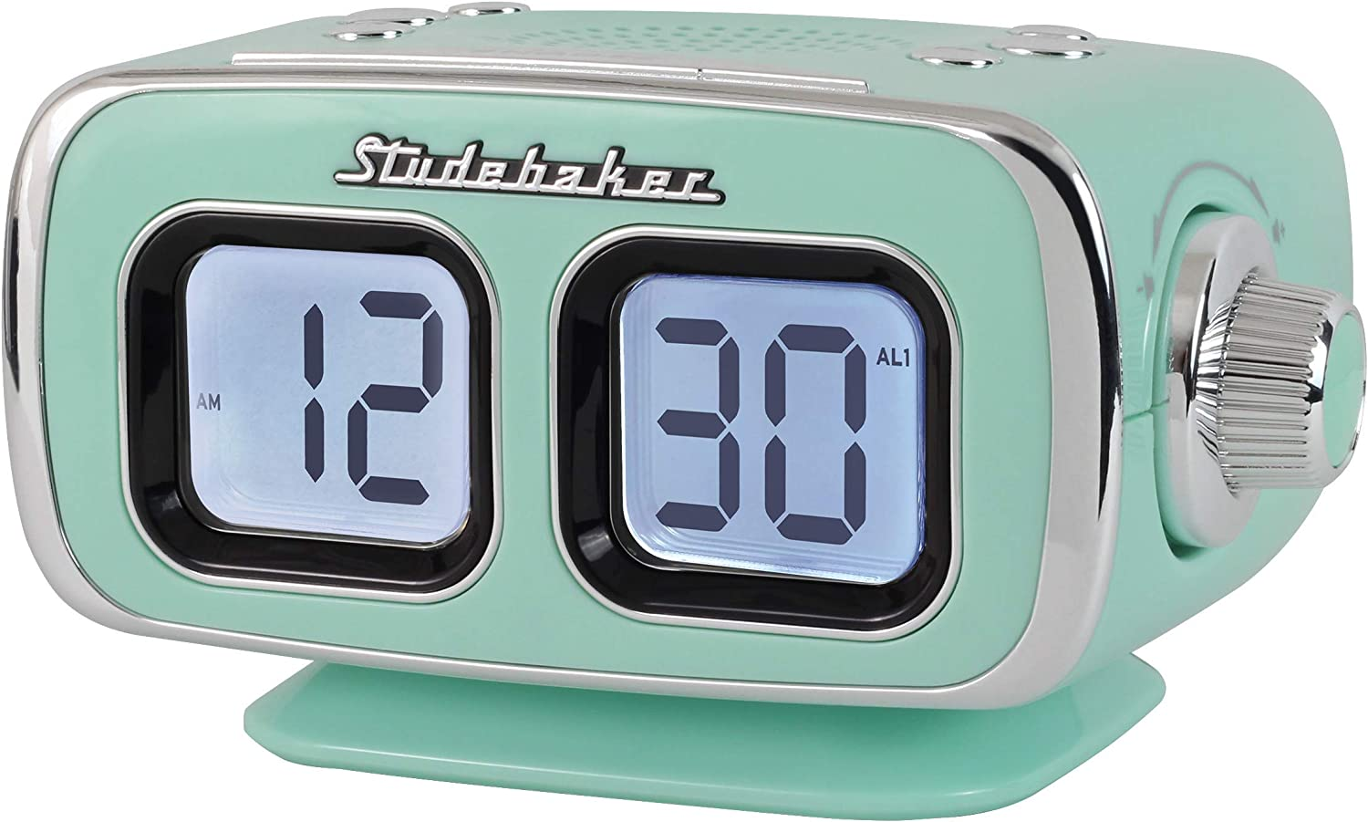 Retro Style Large Display LCD AM/FM Clock