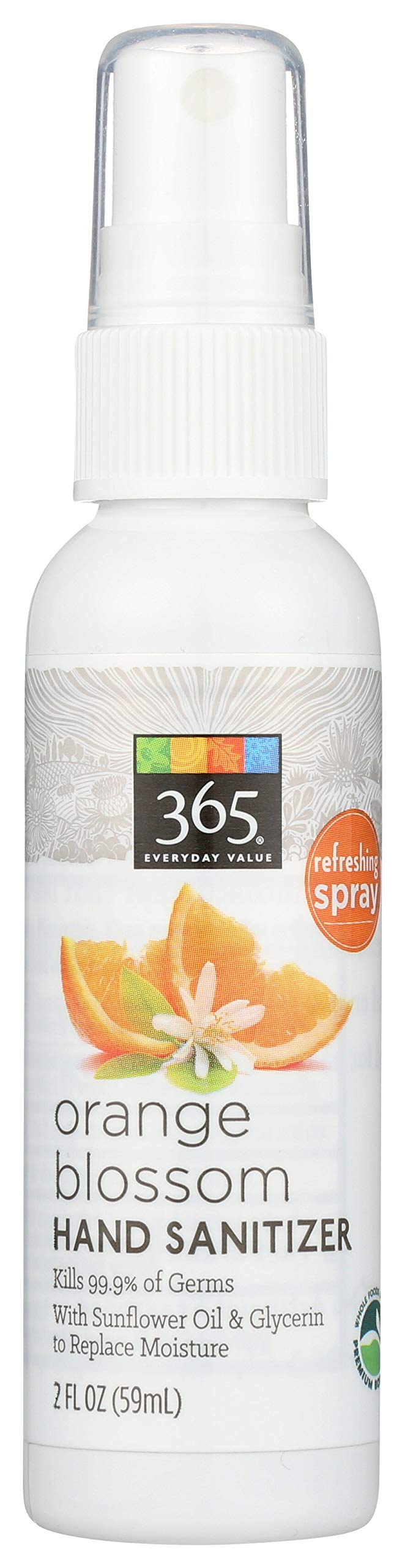 365 Everyday Value Hand Sanitizer Spray Orange Blossom 2 Fl Oz