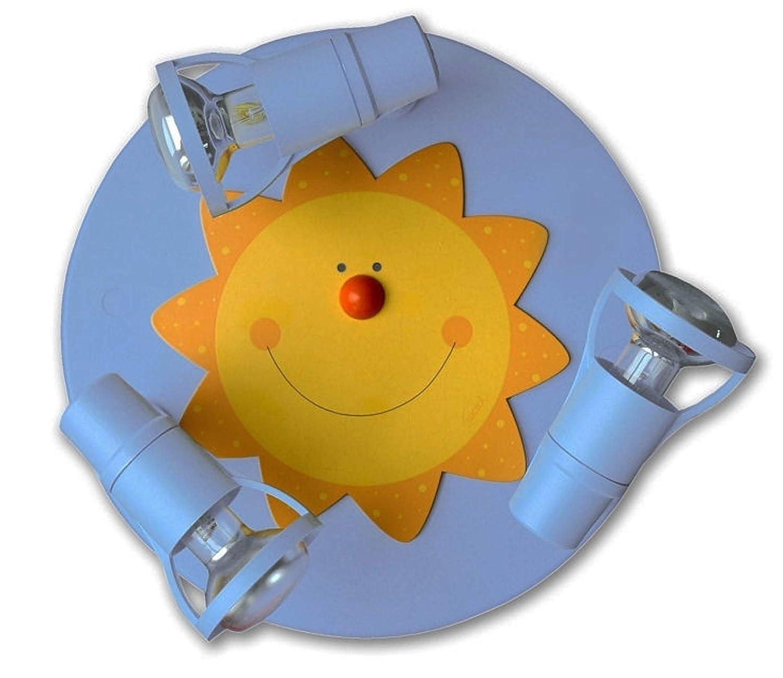 Waldi Leuchten Deckenstrahler Sonne Round Himmelblau 40W 65235.0
