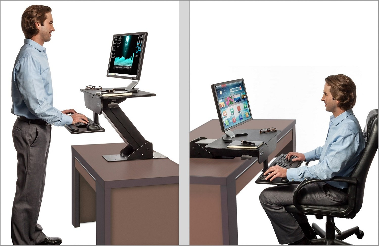 review ergotron deskhacks stand desk sit d dsc workfit