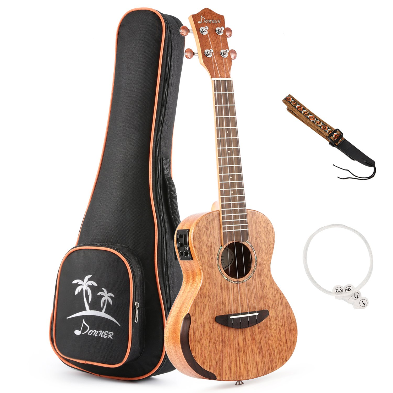 4. Donner Solid Electro-acoustic Ukulele Electric