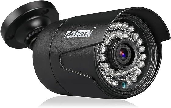 Opinión sobre FLOUREON AHD Cámara de Seguridad 1080P 2.0MP 3000TVL CCTV DVR Bullet Cámara Impermeable al Aire Libre IR-Cut Visión Nocturna para AHD DVR, Negro