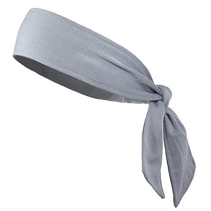 c9a6e4960b Kenz Laurenz Headbands Tie on Headband for Women Men Running Athletic Hair  Head Band Elastic Sports Sweat Basketball Sweatband Stetchy Yoga Workout ...