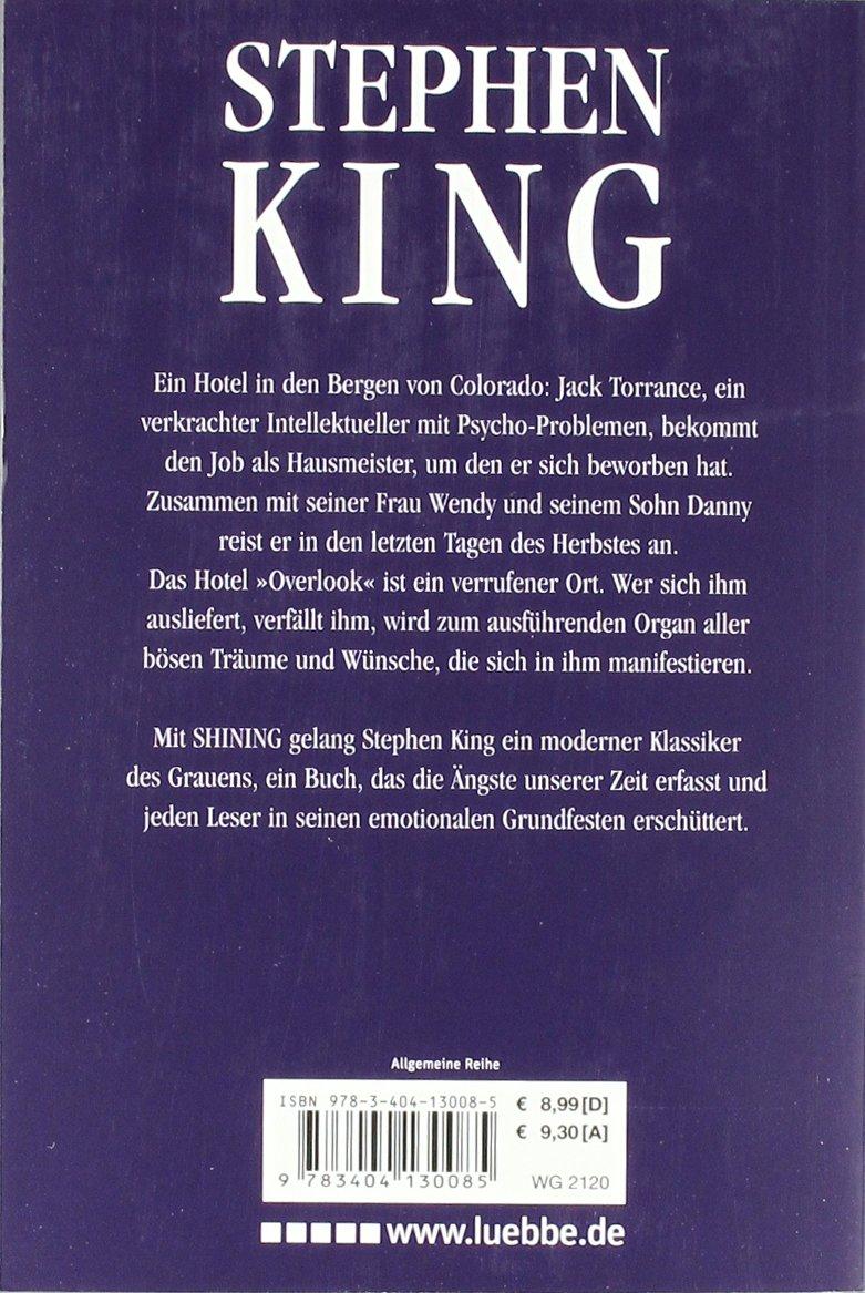Shining. Roman.: Stephen King: 9783404130085: Amazon.com: Books