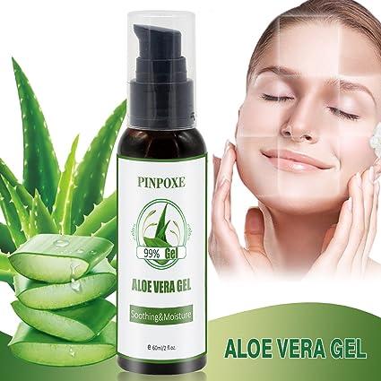 Aloe Vera Puro, Gel de Aloe Vera 90%, Gel Hidratante de Aloe Vera