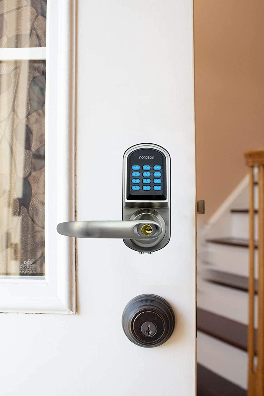 #1 Keypad Entry Door Lock Deadbolt Keypad Key Code Door Lock Door Locks with Keypads