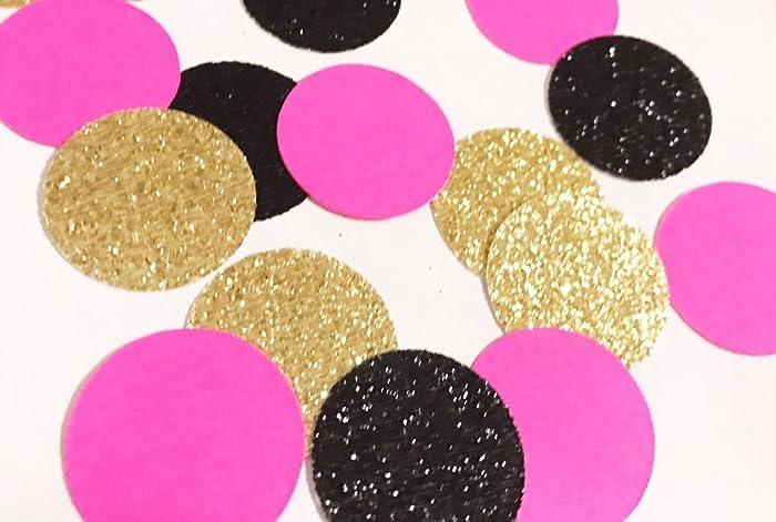 Amazon.com  Black Gold Hot Pink Confetti e0ba8c455b0b