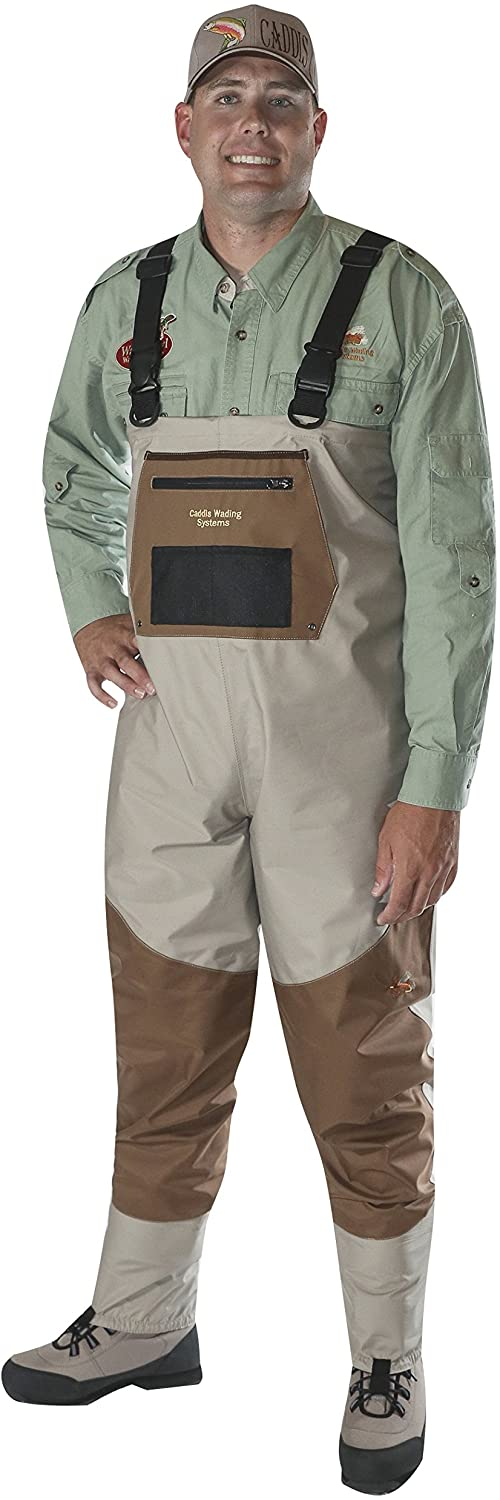 Caddis Men's Attractive 2-Tone Tauped Deluxe Breathable Stocking Foot Wader(DOES NOT INCLUDE BOOTS)