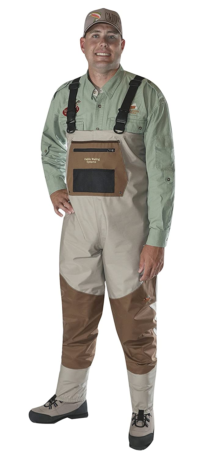Caddis Men's Attractive 2-Tone Tauped Deluxe Breathable Stocking Foot Wader(Does NOT Include Boots) Caddis Waders CA12901W
