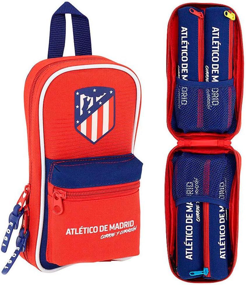 Safta Neceser Con 4 Estuches Atlético De Madrid