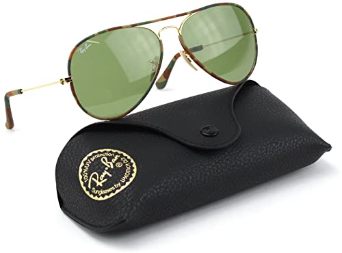 22331b25a4 Ray-Ban RB3025JM 168 4E Sunglasses Multi Camouflage Frame  Green G-15 Lens  55mm  Amazon.ca  Shoes   Handbags