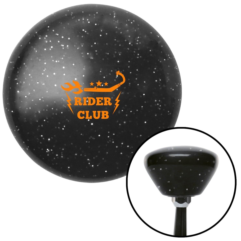 American Shifter 287384 Shift Knob Orange Rider Club Black Retro Metal Flake with M16 x 1.5 Insert