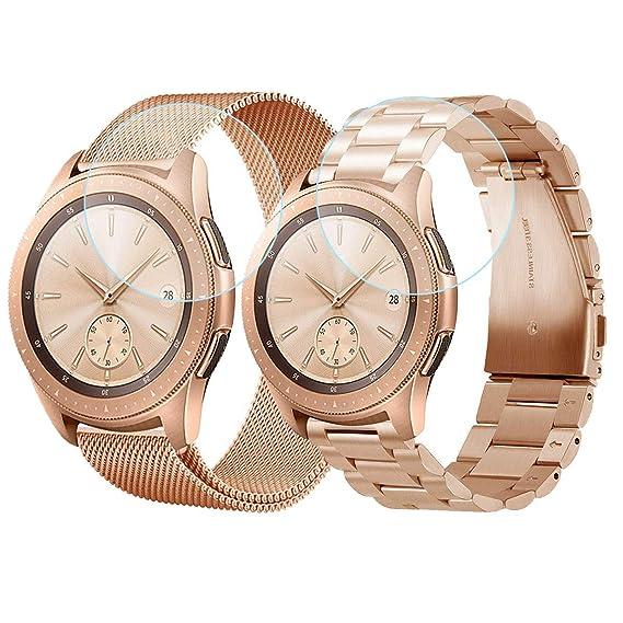 Amazon Com Cagos Compatible Galaxy Watch 42mm Bands Sets 20mm 2
