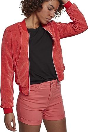 00092 X Short Blouson Urban Rose coral Classics Pleated Femme 6SU4Uq