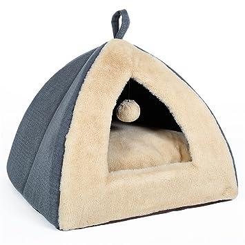 STAZSX La Arena para Gatos cerró el Saco de Dormir para Gatos Perro pequeño La casa