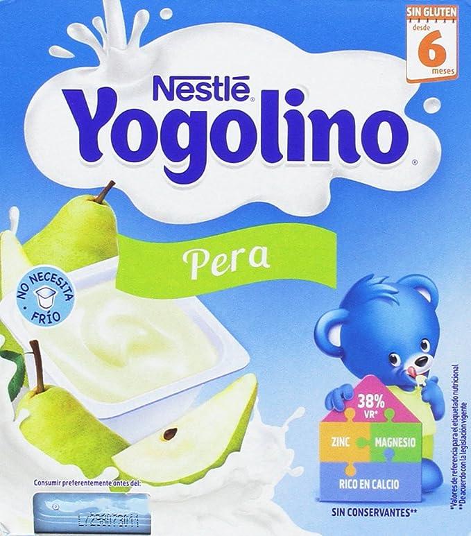 NESTLÉ YOGOLINO, con Pera, para bebés a partir de 6 meses - Paquete de 6 x 4 tarrinas de 100 g: Amazon.es: Alimentación y bebidas