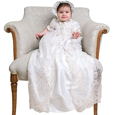"""Baby Beau & Belle """"Kristina"""" Heirloom Christening Gown and Bonnet"""