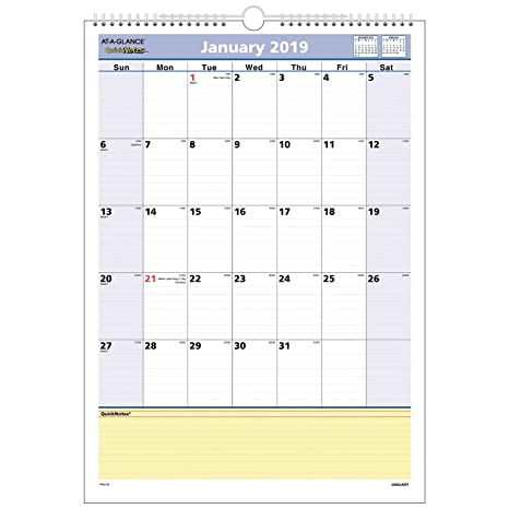 Amazon.com: AT-A-GLANCE - Calendario mensual de pared ...