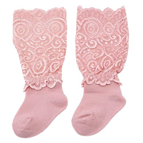 LnLyin Calcetines de algodón para bebé recién Nacido, Media caña ...