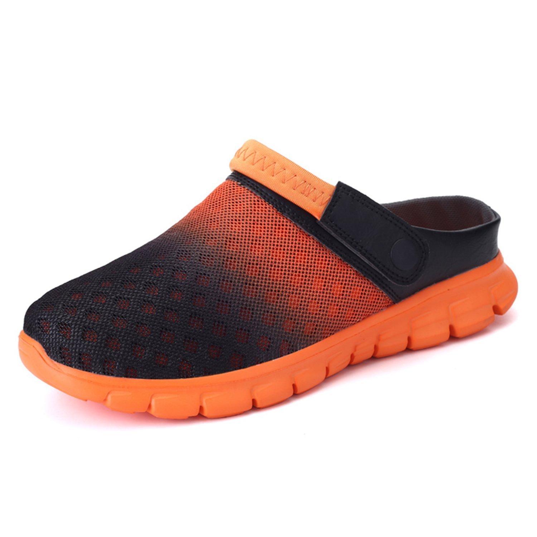 BARKOR Garden Shoes Mens Womens Clogs Summer Mesh Sandals Outdoor Unisex Water Shoes Orange-43