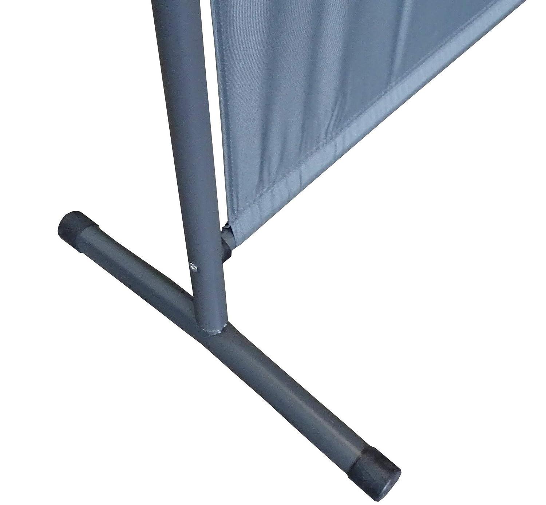QUICK STAR 2 Pezzi Paravento da Giardino 180 x 178 cm Divisorio in Tessuto Balcone Protezione della Privacy Grigio