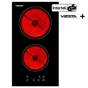 Viesta C2Z - Placa de cocina vitrocerámica, con protección contra el sobrecalentamiento, 3000W, con control táctil, placa independiente