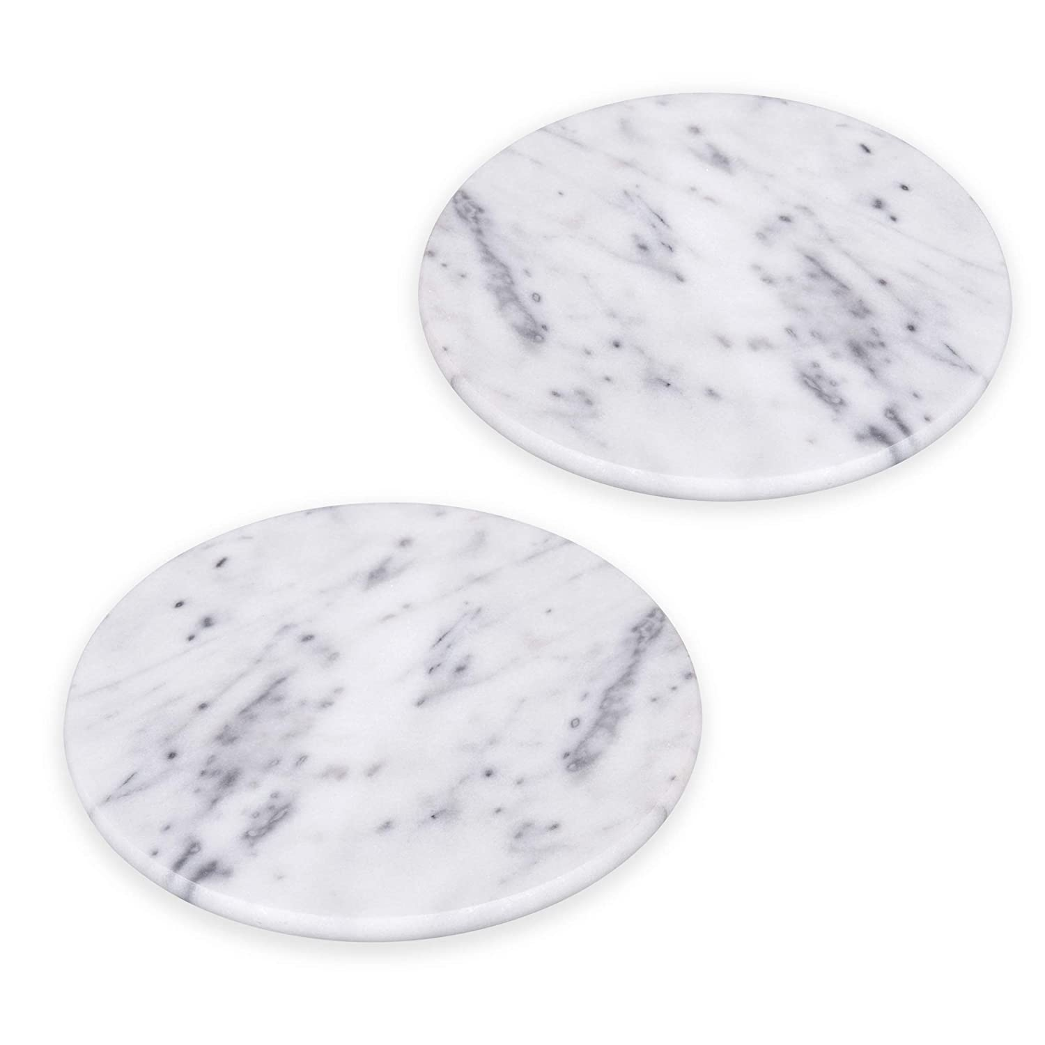 Creative Home Set of 2 Pieces Natural White Marble 8