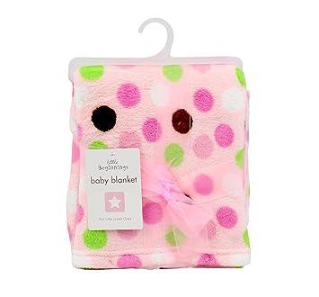 20bd03859c7a Amazon.com  Little Beginnings Polka Dot Baby Blanket Boys Girls Blue ...