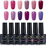 Ukiyo 12PCS 3 in one gel Alcohol Removable One Step Gel Polish Soak Off kit smalto semipermanente 10ml UV LED Smalto semipermanente unghie in Gel gel polish Nail Art set