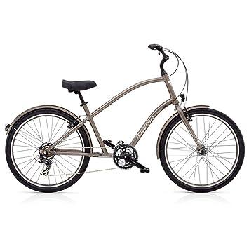 Electra Townie Original 21d EQ Hombre Bicicleta Marrón 26 pulgadas Beach Cruiser iluminación, 538933