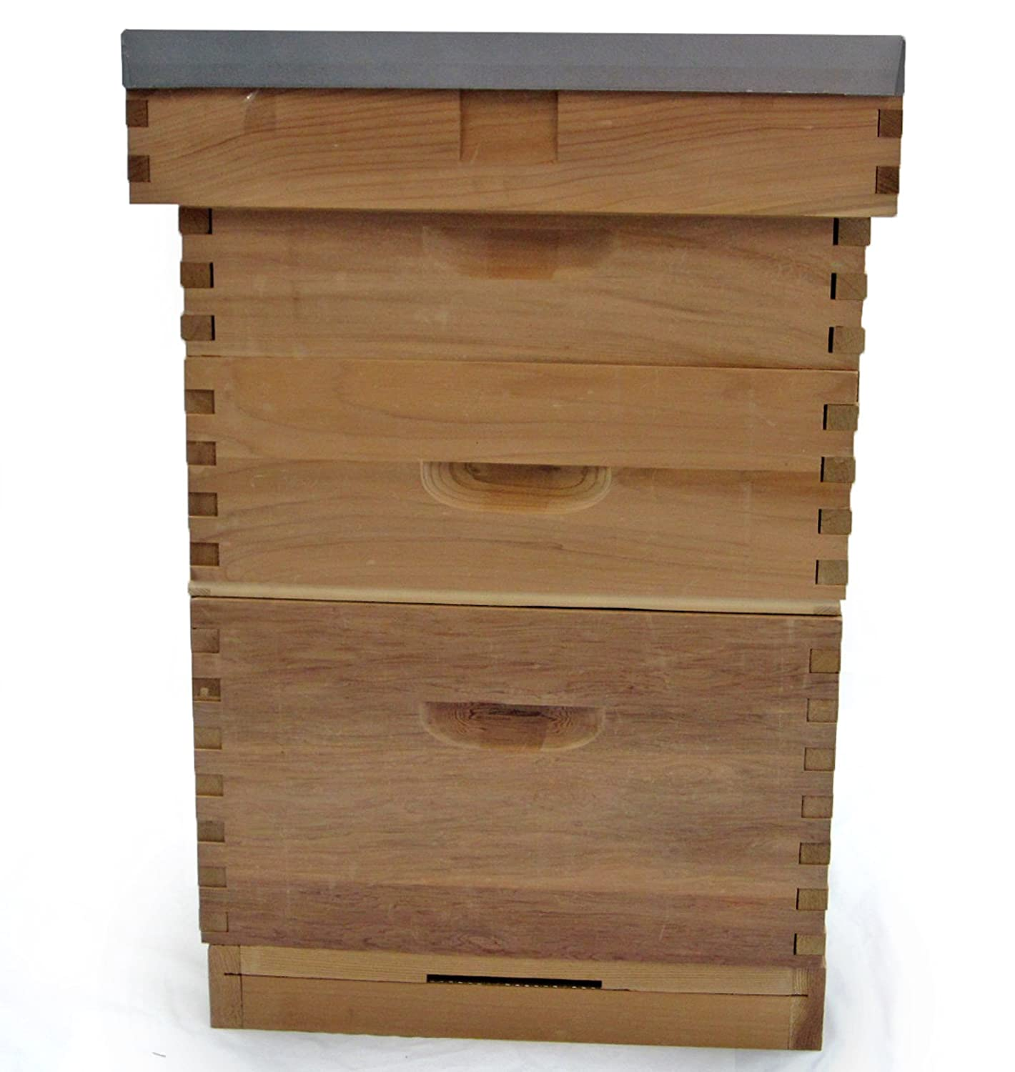 Easipet Langstroth Beehive in Cedar with Flat Roof FED21870