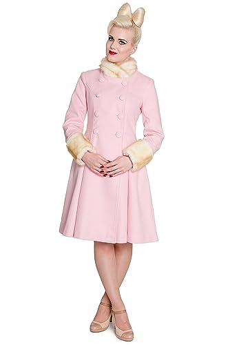 Hell Bunny abrigo corto Trixie Coat Pastel Rosa