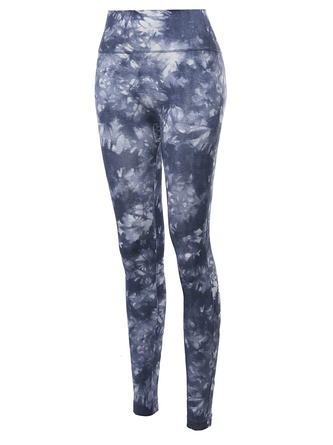 Made by Emma Womens High Waist Tummy Control Tie Dye Sublimation Leggings Yoga Pants