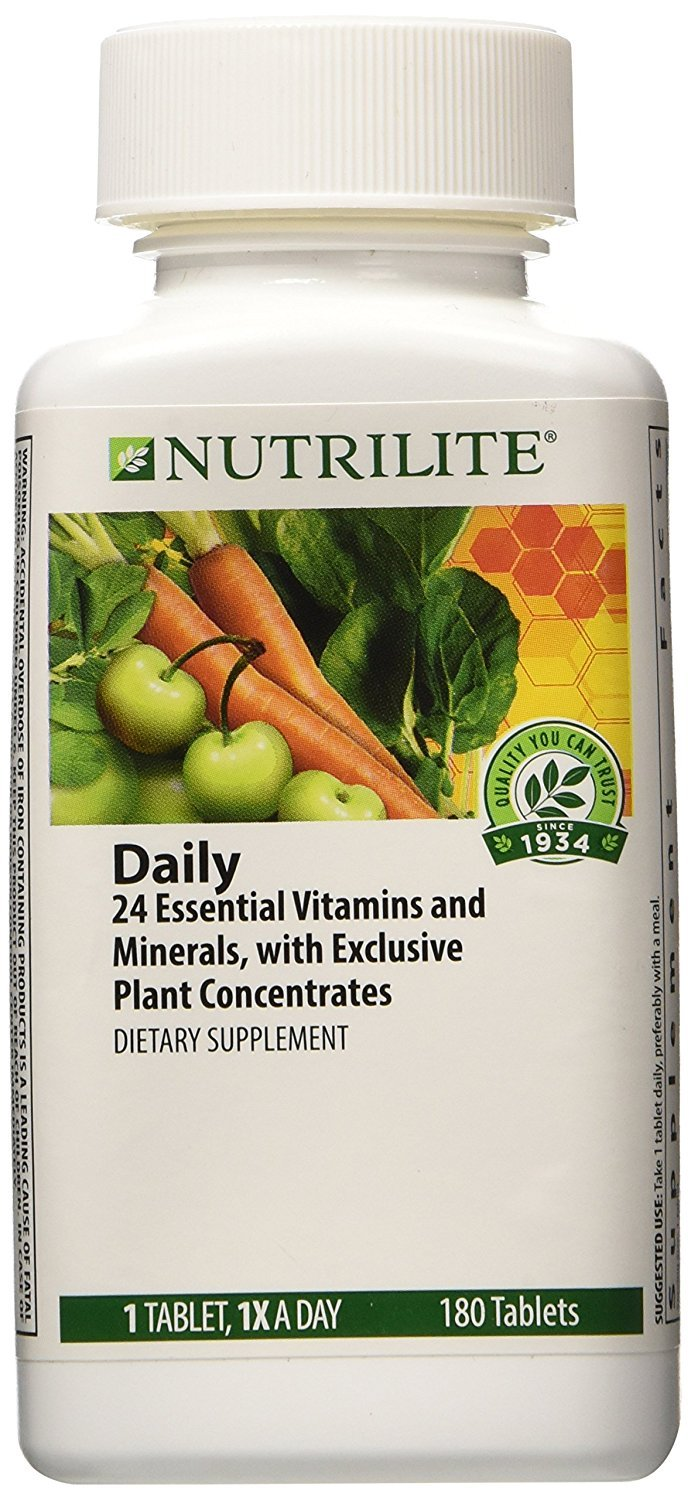 NUTRILITE Daily FREE Multivitamin Multimineral Free of yeast, wheat, alfalfa, iron 180 ct.