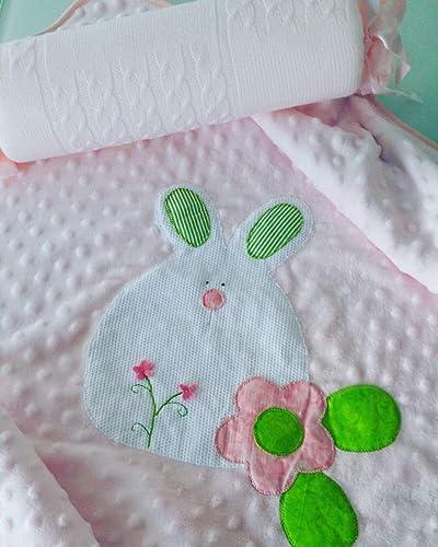 conjunto de Manta y cojin antivuelco: Amazon.es: Handmade