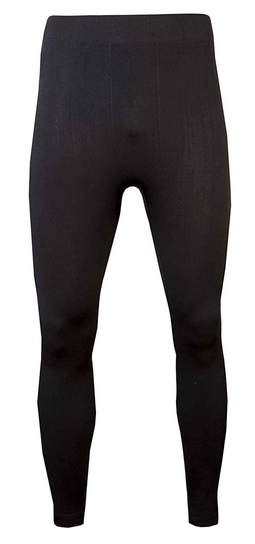 1d29772d13529 Mens Thermal Long Johns Fleece Lined Thick Leggings Warm Layer Winter Ski  Black (S/M): Amazon.co.uk: Clothing