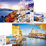 ToyerBee Puzzles for Adults 1000 Pieces-2 Pack Jigsaw Puzzles with Large Posters for Adults Teens & Kids, Large Puzzle Game T