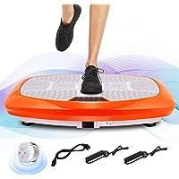 ANCHEER Fitness Plateforme Vibrante Oscillante avec Deux Moteurs Puissants 3D   Oscillation, Vibration + 3D Vibration   Grande Surface Incurvée Anti-Dérapante   2 Bandes Elastiques d'Entraînements