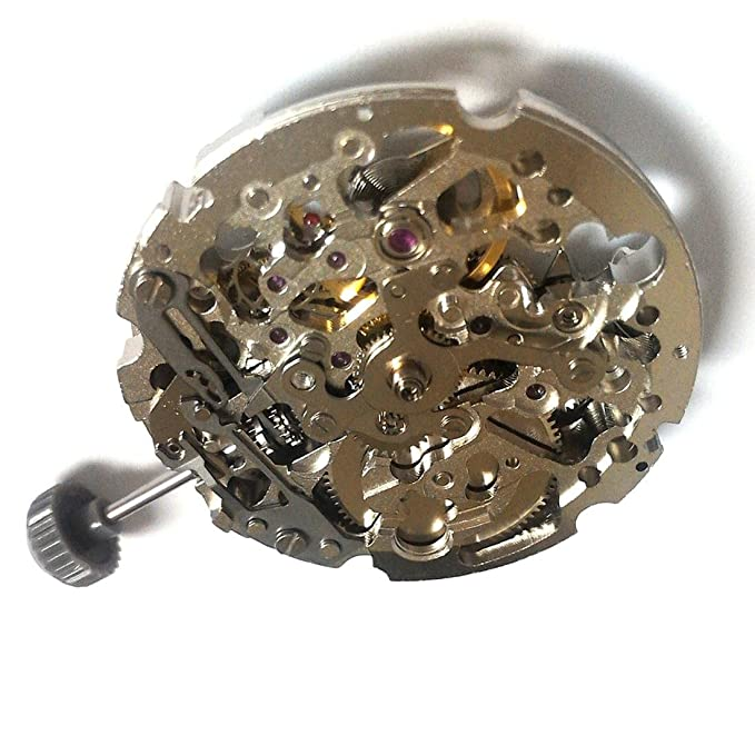 Amazon.com: Miyota 8N24 Automatic Mechanical Skeleton Movement 21 Jewels Japan Made: Watches