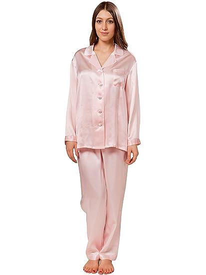 8fb10685df ElleSilk Women s 100% Pure Silk Pyjama Set